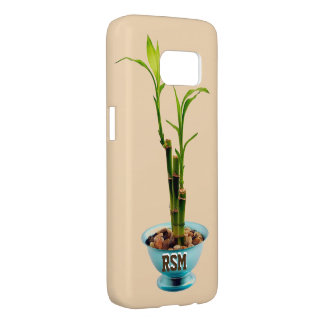 Bamboo sprout monogram samsung galaxy s7 case