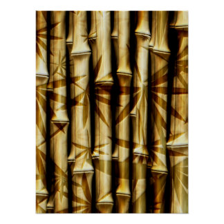 Bamboo Stalks and Rods Poster