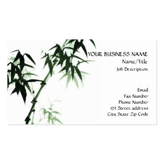 Bamboo Stalks Oriental Zen Touch Business Card