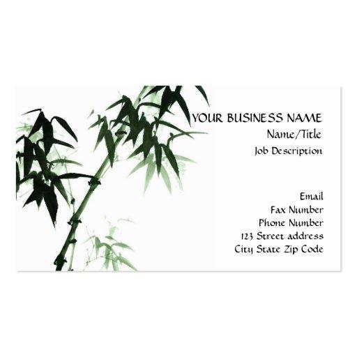 Bamboo Stalks Oriental Zen Touch Business Card Templates