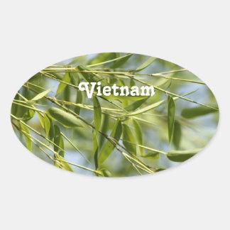 Bamboo Oval Sticker
