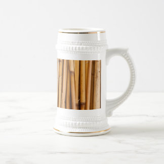 Bamboo Sticks Cover Beer Stein
