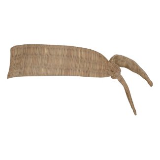 Bamboo Straw Mat Brown Image Tie Headband