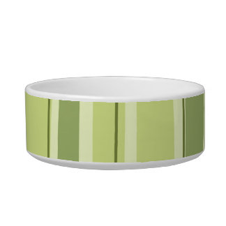 Bamboo Striped Green Pet Bowl