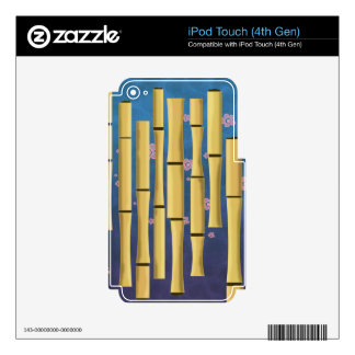 Bamboo Stripes iPod Touch 4G Decal