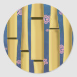 Bamboo Stripes Round Sticker
