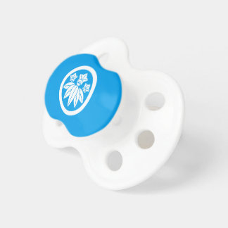 Bamboo-style gentian in circle pacifier