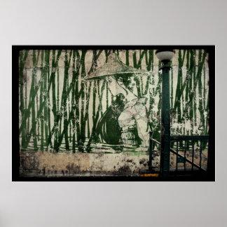 Bamboo Subway Geisha Poster