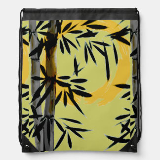 Bamboo Sun Drawstring Backpack by HereZen