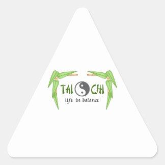 BAMBOO TAI CHI TRIANGLE STICKER
