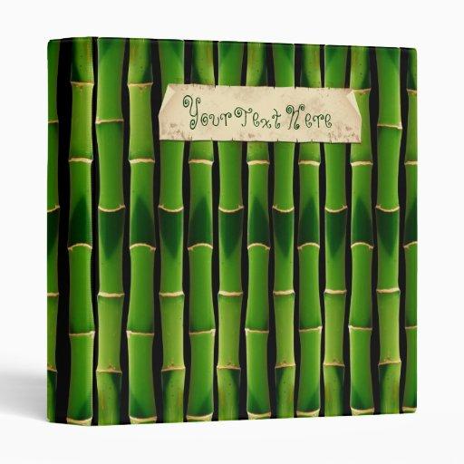 Bamboo Texture 3 Ring Binder