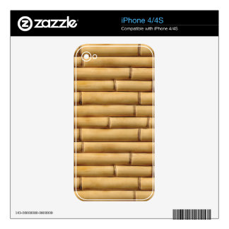 Bamboo Texture Background Decal For iPhone 4S