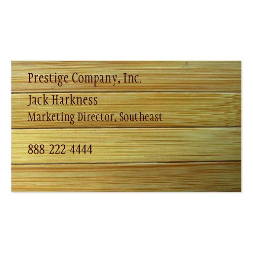 Bamboo Texture Business Card Zazzle