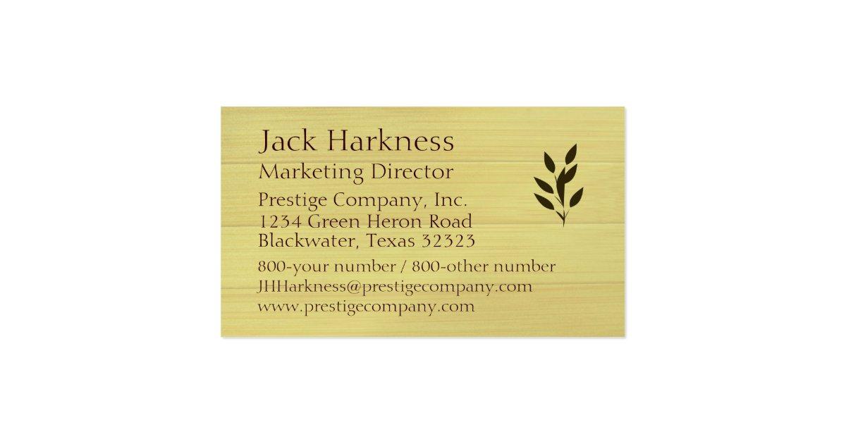 Bamboo Texture Business Card