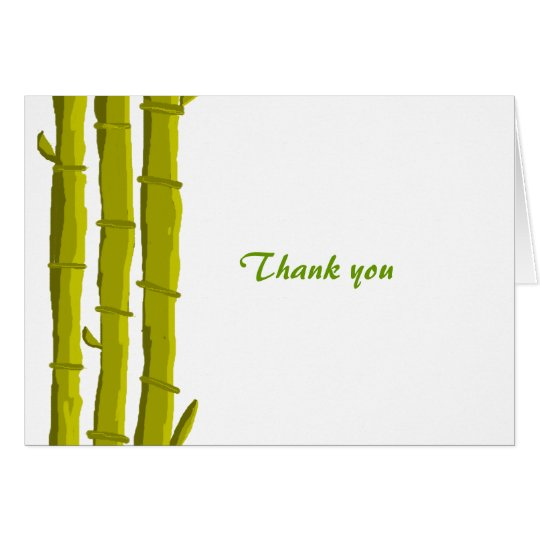 Bamboo Thank You Card