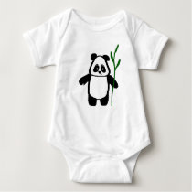 Bamboo the Panda Baby Creeper Romper