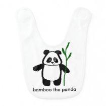 Bamboo the Panda Bib For Babies