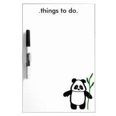 Bamboo The Panda Dry Erase Board at Zazzle
