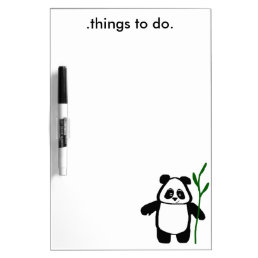 Bamboo the Panda Dry Erase Board