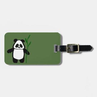 Bamboo the Panda Green Luggage Tag