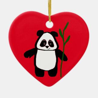 Bamboo the Panda Heart Ornament