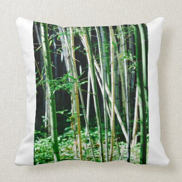 Beach Themed Bamboo - Throw Pillow - Cushion