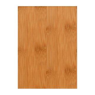 Bamboo Toast Wood Grain Look Acrylic Print