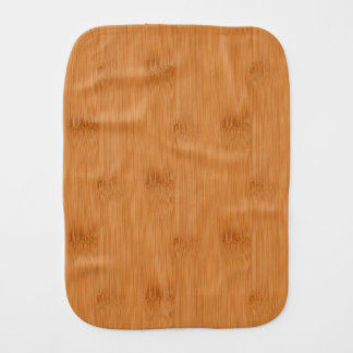Bamboo Toast Wood Grain Look Baby Burp Cloth