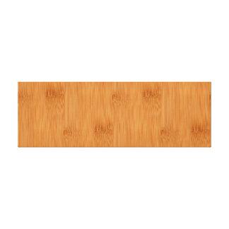 Bamboo Toast Wood Grain Look Canvas Print