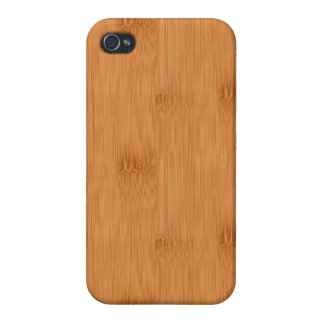 Bamboo Toast Wood Grain Look Cases For iPhone 4