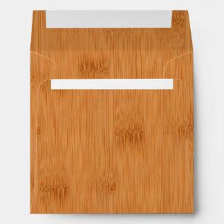 Bamboo Toast Wood Grain Look Envelope
