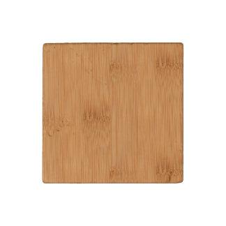 Bamboo Toast Wood Grain Look Stone Magnet
