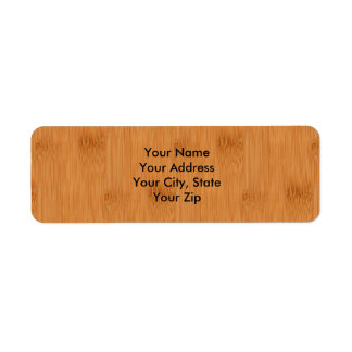 Bamboo Toast Wood Grain Look Label