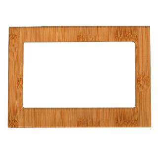 Bamboo Toast Wood Grain Look Magnetic Photo Frame