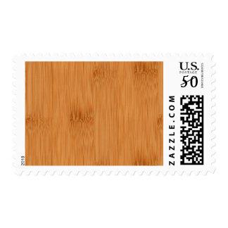 Bamboo Toast Wood Grain Look Postage