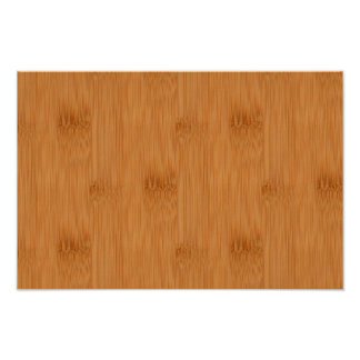 Bamboo Toast Wood Grain Look Poster
