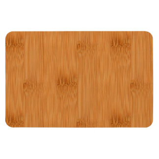 Bamboo Toast Wood Grain Look Rectangle Magnet