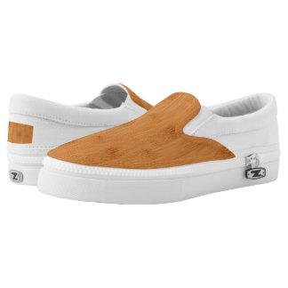 Bamboo Toast Wood Grain Look Printed Shoes