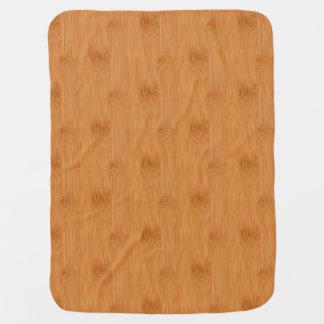 Bamboo Toast Wood Grain Look Receiving Blanket