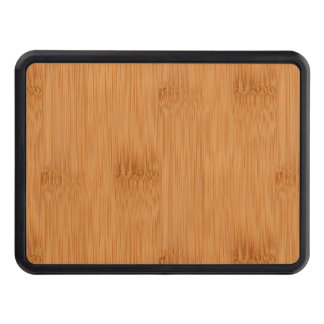 Bamboo Toast Wood Grain Look Tow Hitch Cover