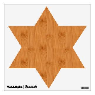 Bamboo Toast Wood Grain Look Wall Decal