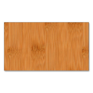 Bamboo Toast Wood Grain Look Magnetic Business Cards