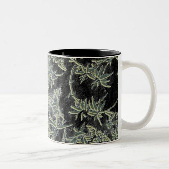 """""""Bamboo Trellis"""" Two-Tone Coffee Mug"""