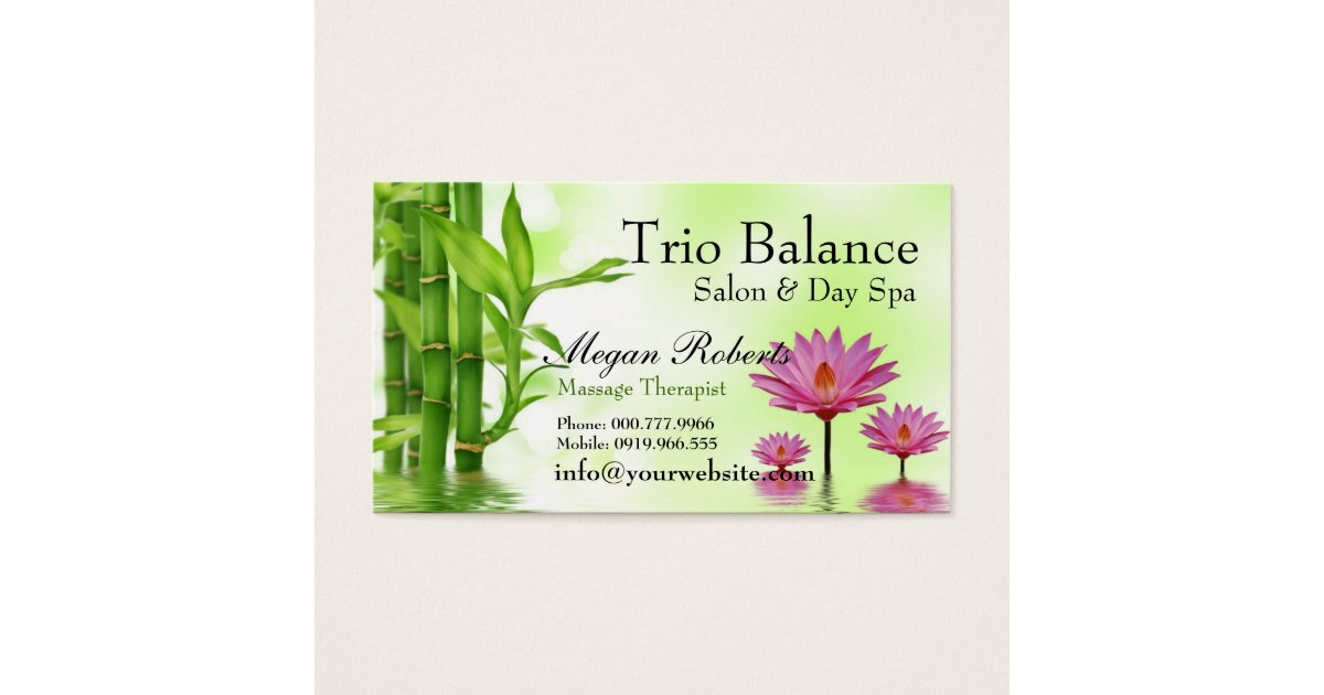 Water Therapy Business Cards & Templates | Zazzle