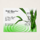 Bamboo Water Ripple Spa Business Card