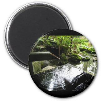 Bamboo Waterfall in Japan 2 Inch Round Magnet