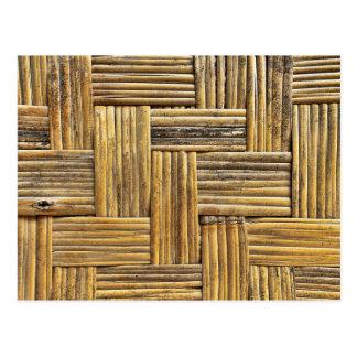 Bamboo weave texture postcard