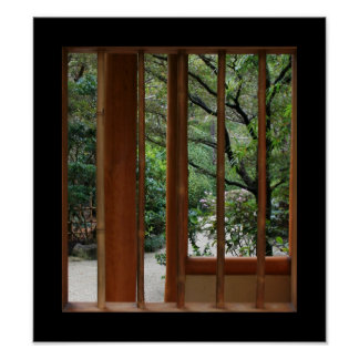 Bamboo Window Posters