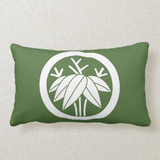 Bamboo with root in circle lumbar pillow