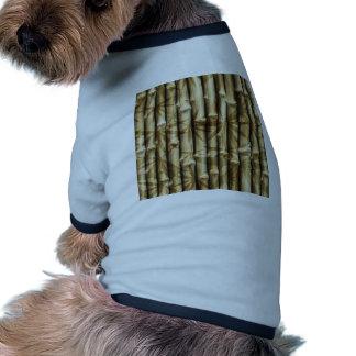 Bamboo Wood Texture Doggie Tee Shirt